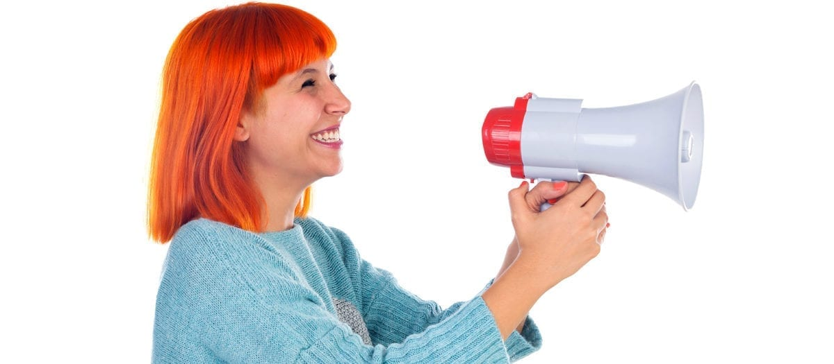 Talar i megafon