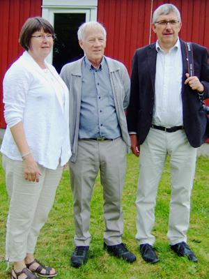 Kerstin, Åke och Karl-Eric vid invigningen.